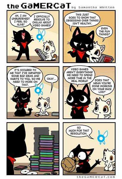 Funny Cat Comics Tapastic Sauce Gamercat Comic