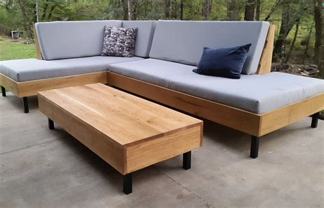 wooden outdoor sofa alston wood outdoor sofa daybed with