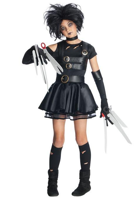 Tween Girls Scissorhands Costume - Edward Scissorhands Movie Character Costumes