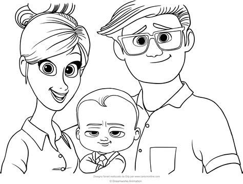 disegni bebe da stare disegno di baby con i genitori da colorare