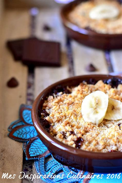 crumble banane chocolat facile le cuisine de samar