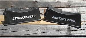 Vintage Pair of GENERAL TIRE Plastic Tire Stands Interlock ...