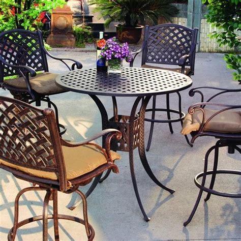darlee nassau 5 cast aluminum patio bar set with
