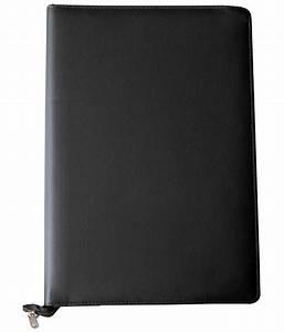renown black premium leather documents file folder in four With black leather document folder