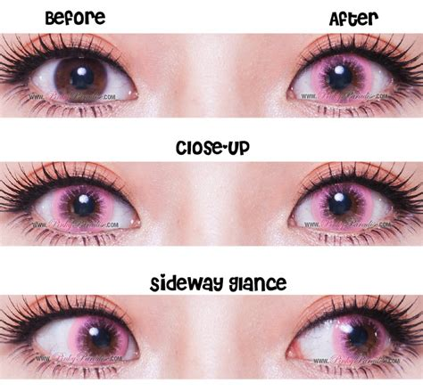 pink colored contacts eos pink circle lenses colored contacts