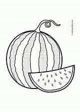 Watermelon Template Coloring Sketch sketch template