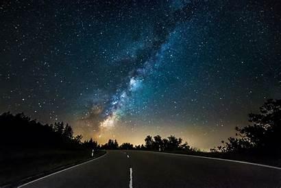 Night Stars Landscape Street Resolution Desktop Wallpapers