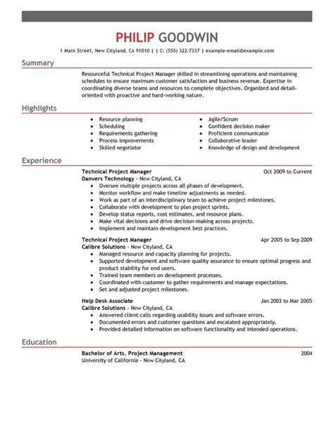 project management skills resume samples technical project manager resume examples free to try