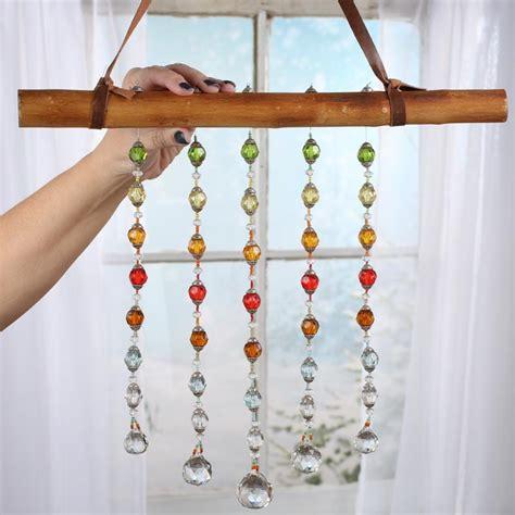 boho hanging crystal sun catcher wall decor home decor