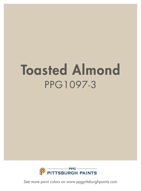 totasted almond ppg1097 3 from ppg pittsburgh paints is a