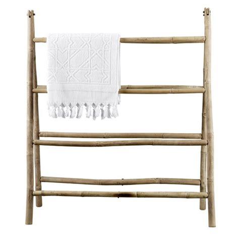 porte serviette bambou ikea porte serviettes pliant en bambou 8 niveaux tine k home decoclico