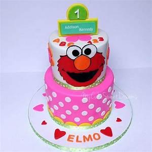 Elmo 1St Birthday Cake - CakeCentral com