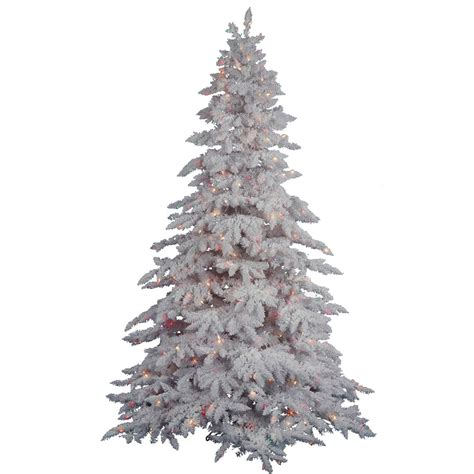 vickerman 18600 4 5 x 46 quot flocked white spruce 250