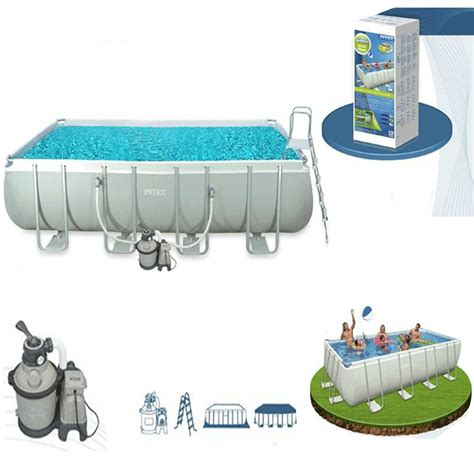 piscine intex 4 57 piscine tubulaire intex ultra silver 4 57 x 2 74 x 1 22 m