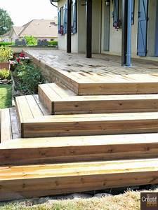 Escalier Terrasse Bois : escaliers d 39 ext rieur ~ Nature-et-papiers.com Idées de Décoration