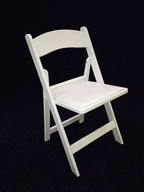 white folding chairs with padded seat for hire maidman s