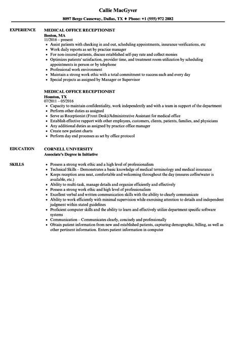 8 front desk receptionist resume sles invoice templatez