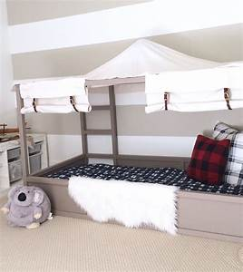 IKEA Kura Bed Hack: DIY Boy Canopy Bed Harlow & Thistle