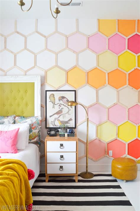 cool wall ideas tapeta jak plaster miodu la niczym ul inspiracje 5780