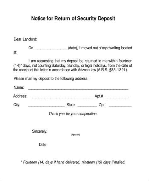 sample security deposit receipt form   documents