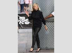 Kirsten Dunst dons edgy trousers and heels to promote FX