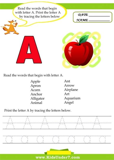 6 letter words starting with a words that start with the letter a for preschoolers 20263