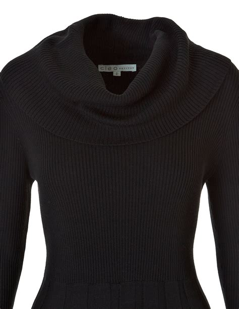 cowl neck sweater black cowl neck sweater dress cleo