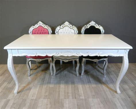 White Baroque Table