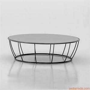 Table Basse Metal Ronde : table basse ronde verre et metal design en image ~ Teatrodelosmanantiales.com Idées de Décoration