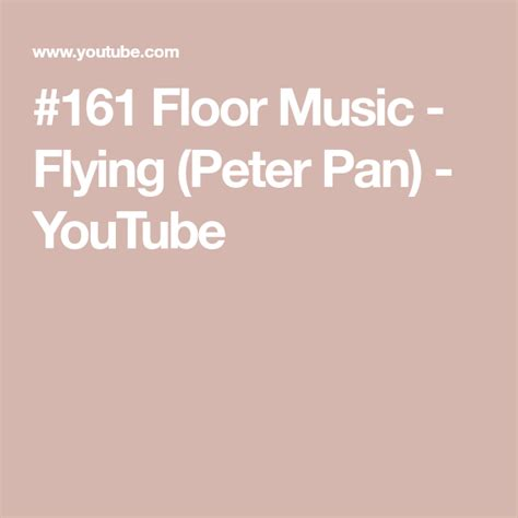 This wouldn't be a successful floor music blog post if we didn't include some of the classics that are sure to impress at any gymnastics competition, now. #161 Floor Music - Flying (Peter Pan) - YouTube | Gymnastics floor music, Peter pan, Music