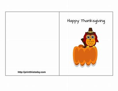 Thanksgiving Printable Card Happy Cards Owl Featuring