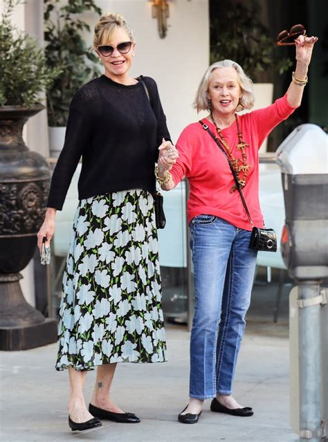Melanie Griffith 62 Steps Out Looking Cheerful With Mom