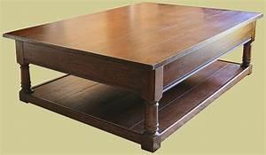 large oak potboard coffee table traditional english made With traditional oak coffee table