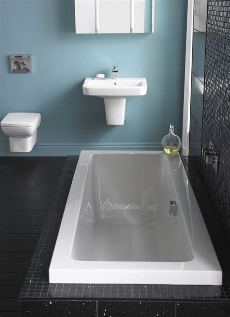 hudson reed square single ended bath  panel options