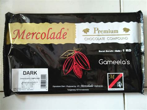 jual mercolade premium dark chocolate compound kemasan
