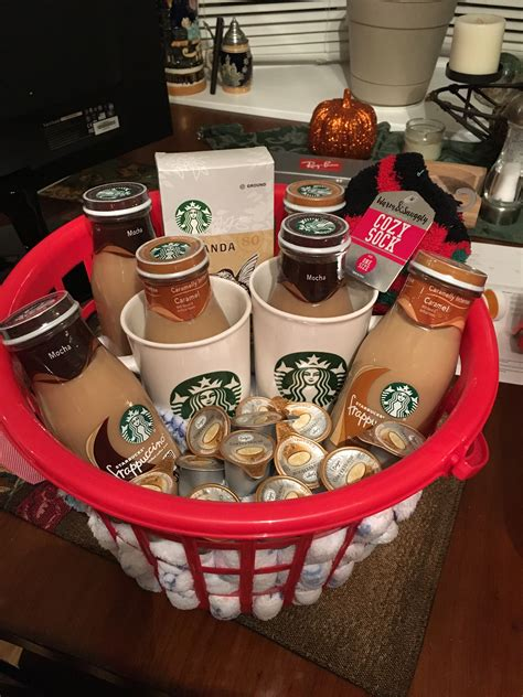 A gift basket is not just a gift. Starbucks gift basket   Starbucks gift baskets, Christmas ...