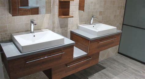meuble salle de bain design du bambou et du b 233 ton cir 233 pour ce meuble vasques atlantic bain