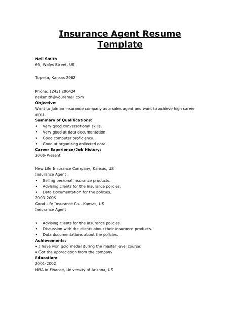 2016 insurance broker resume objective sles