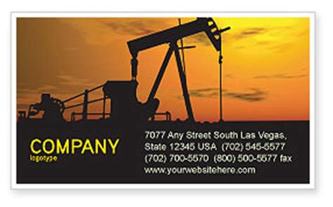 oil producer business card template layout  oil