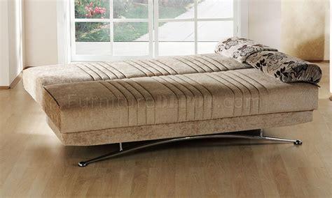 fantasy benja sleeper sofa  light brown microfiber  sunset