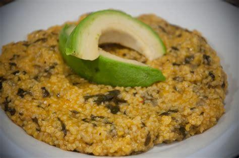 mais cuisine cornmeal and spinach mais moulin ak zepina