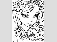 Pretty Girls Coloring Pages Free Printable Coloring Pages