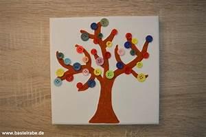 Basteln Mit Knöpfen : baum basteln mit kn pfen und keilrahmen zum bunten fr hlingsbild ~ Frokenaadalensverden.com Haus und Dekorationen