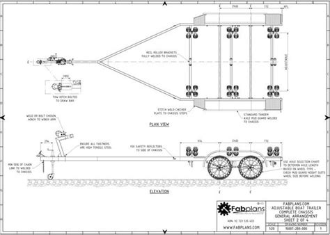 Boat Trailer Plans Australia by Boat Trailer Plans Build Your Own Boat Trailer Fabplans