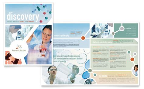 Healthcare Brochure Templates by Research Brochure Template Design