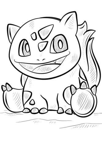 ausmalbild bulbasaur pokemon ausmalbilder kostenlos zum