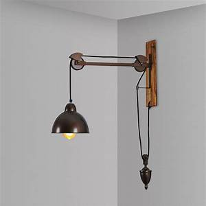 Pulley Light Fixtures Wall Lamps Industrial Wall Lights