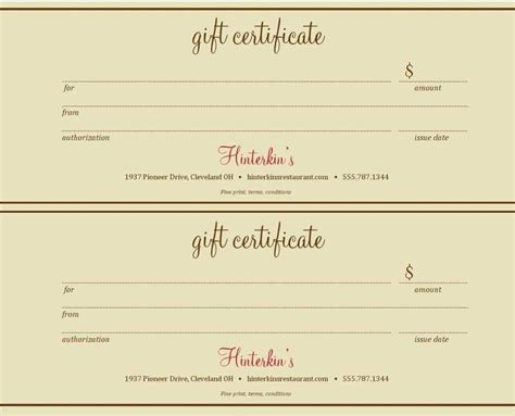 Gift Certificate Template Free Free Blank Gift Certificate Templates Template Update234