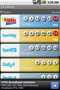 California Lottery Winning Numbers Results