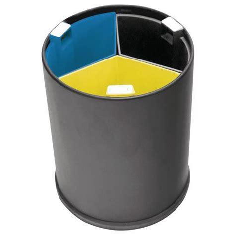 poubelle bureau poubelle de bureau 3 flux bacs colorés 13 l manutan fr